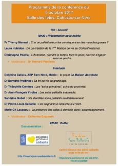 Programme conférence du 06 octobre 17